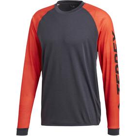 adidas TERREX Trail Cross T-shirt à manches longues Homme, hi-res red/carbon
